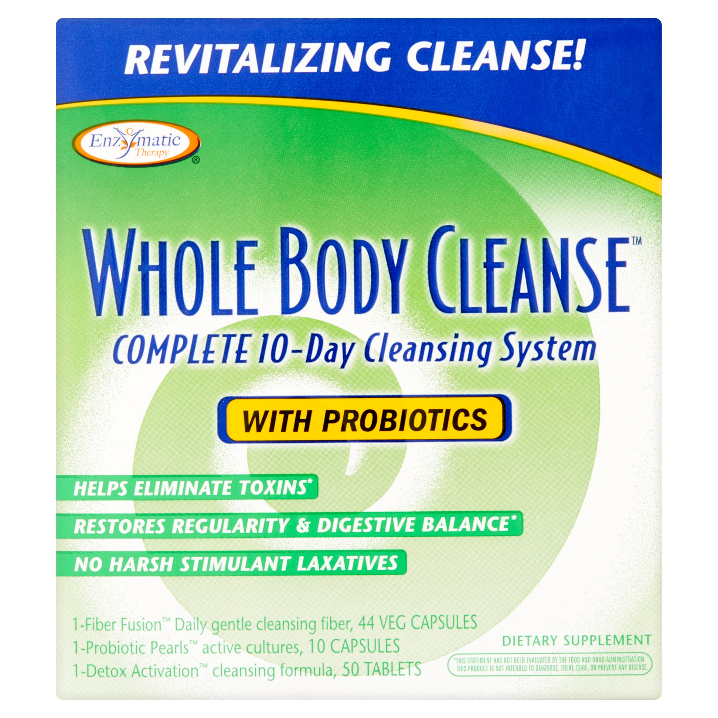 Enzymatic Therapy 10 Day Whole Body Cleanse Kit, 104 Ct