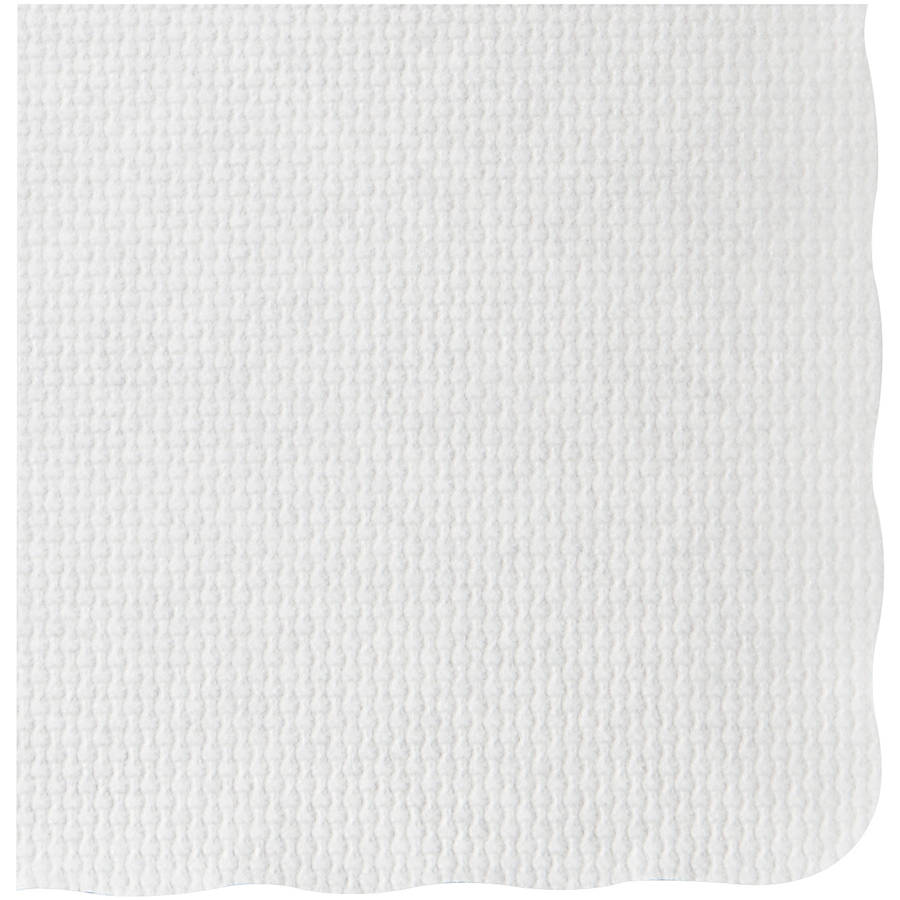 Hoffmaster White Knurl Embossed Scalloped Edge Placemats, 1000 count