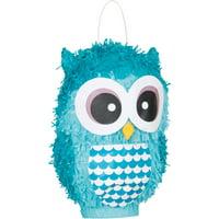 Light Blue Owl Pinata, 10in x 15in