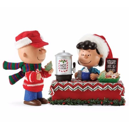 Possible Dreams Peanuts Christmas Treats Charlie Brown and Lucy Figurine 4057310
