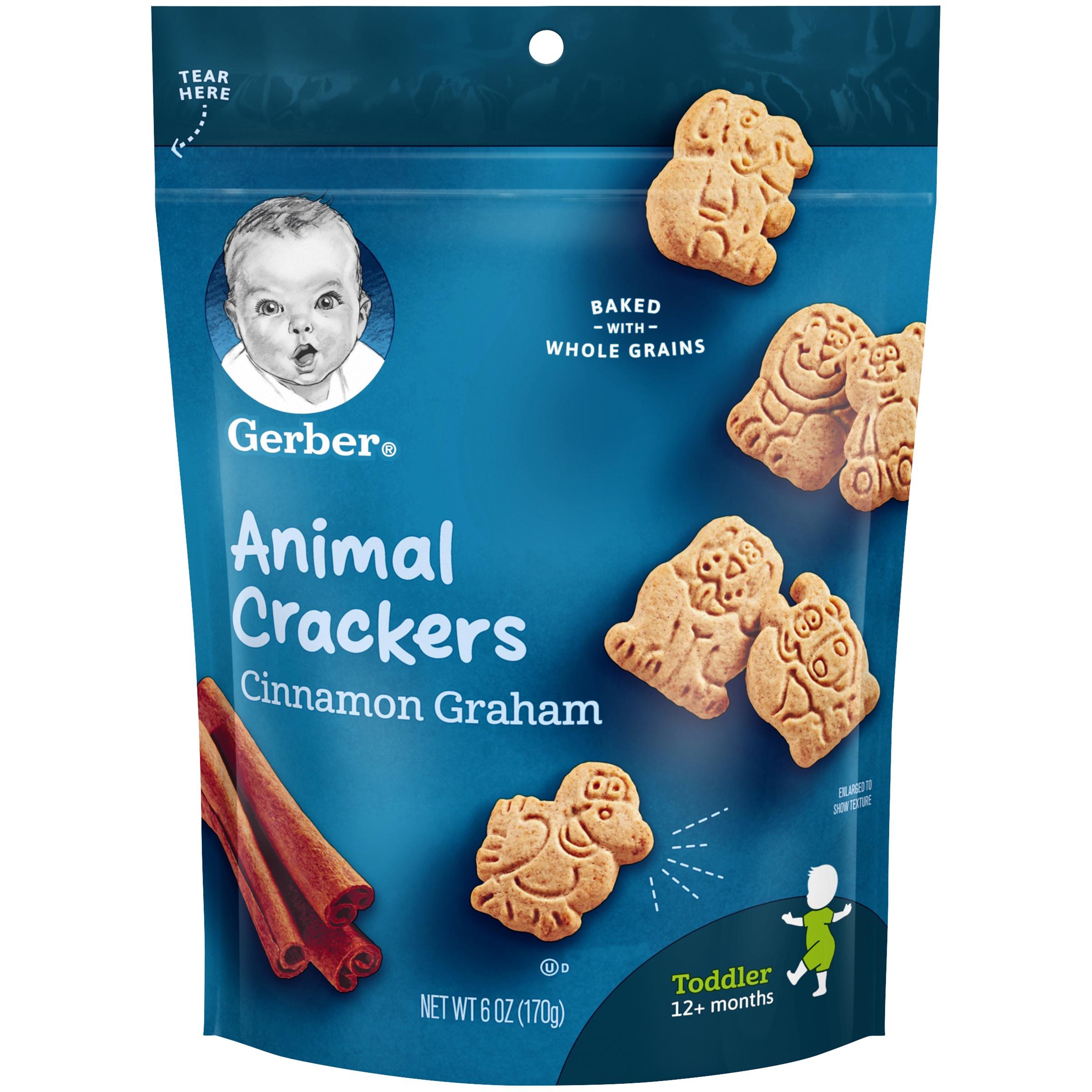 Gerber Cinnamon Graham Animal Crackers, 6 oz.