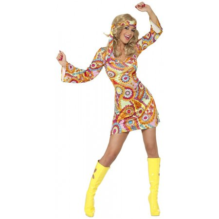 1960s Hippie Adult Costume - Large](1960's Women)