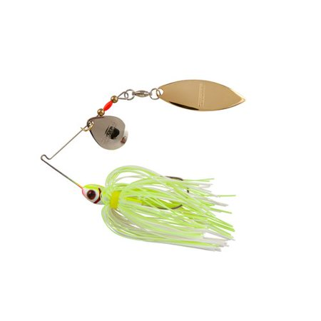 Booyah blade spinner bait white chartreuse for Whiting fish at walmart