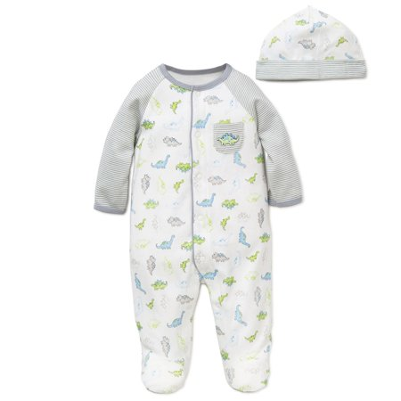 14914bd76832 LTM BABY - Tiny Little Dino s Snap Front Footie Pajamas with Hat For ...