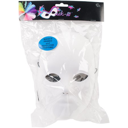 Mask-It Form Full Male Face, White, 8.5