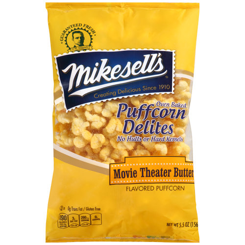 Mikesell's Movie Theater Butter Oven Baked Puffcorn Delites, 5.5 oz