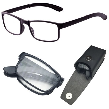 0898cda0d0da Compact Folding Reading Glasses Foldable Reader Snap with Hard Carry Case  Included