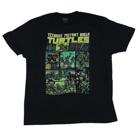 Teenage Mutant Ninja Turtles Mens T-Shirt - Color Eastman Panels (Small)