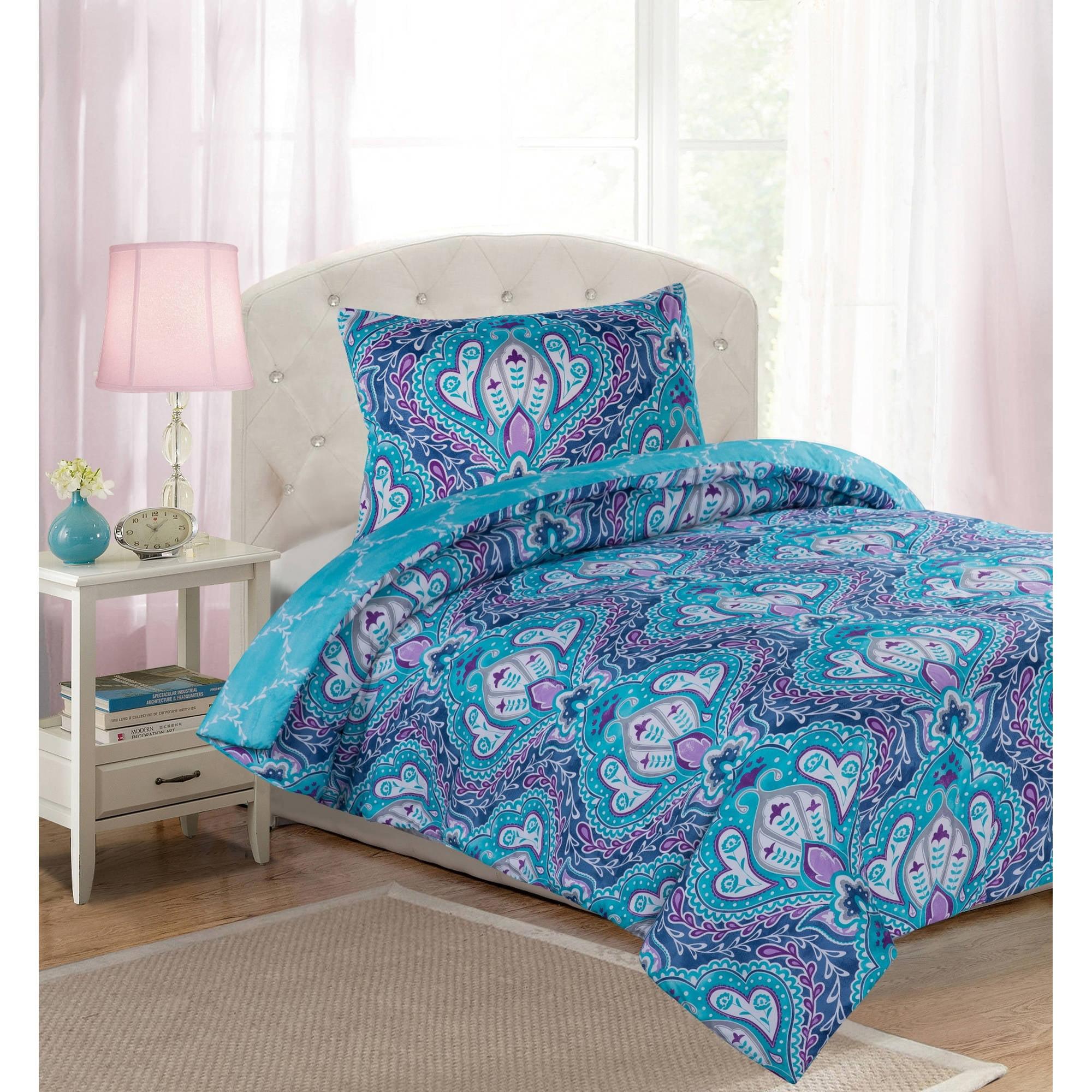 Your Zone Arabesque Floral Comforter Set