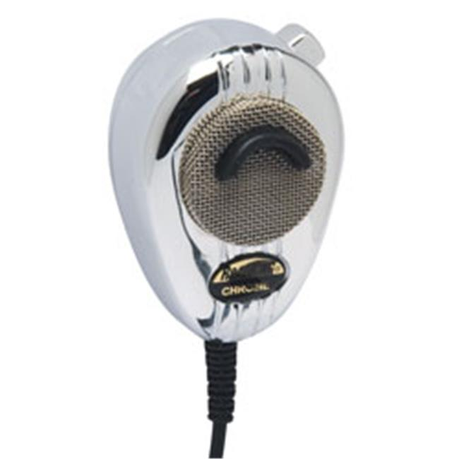 RoadKing RK564PCH 4-Pin Dynamic Noise Canceling CB Microphone with Flex Cord Chrome
