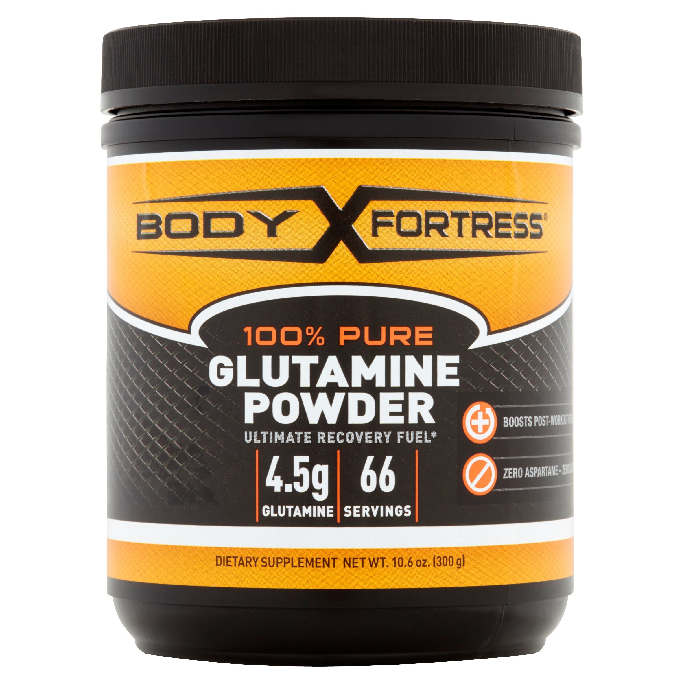 Body Fortress 100% Pure Glutamine Powder, 66 Servings