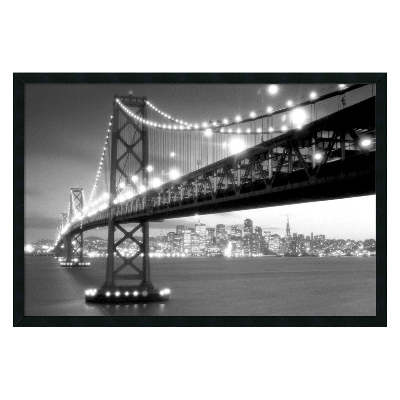 San Francisco Framed Wall Art - 37.41W x 25.41H in.
