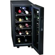 10 Bottle Black Countertop/Floor Wine Cooler