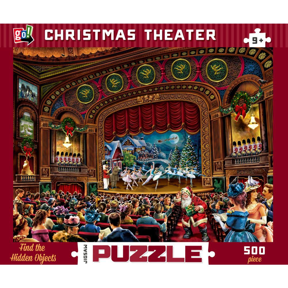 Christmas Theater 500 Piece Puzzle,  Christmas Puzzles by Go! Games