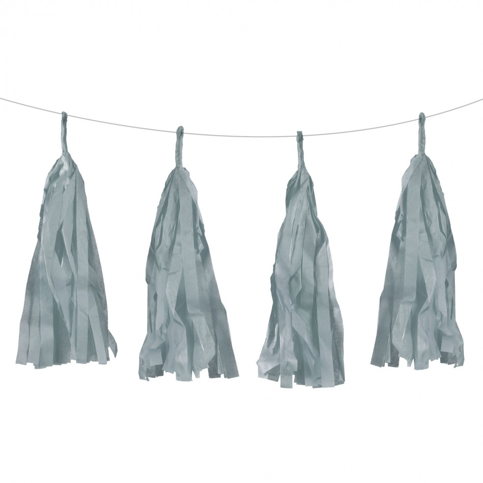 Dress My Cupcake Gray Tassel Garlands