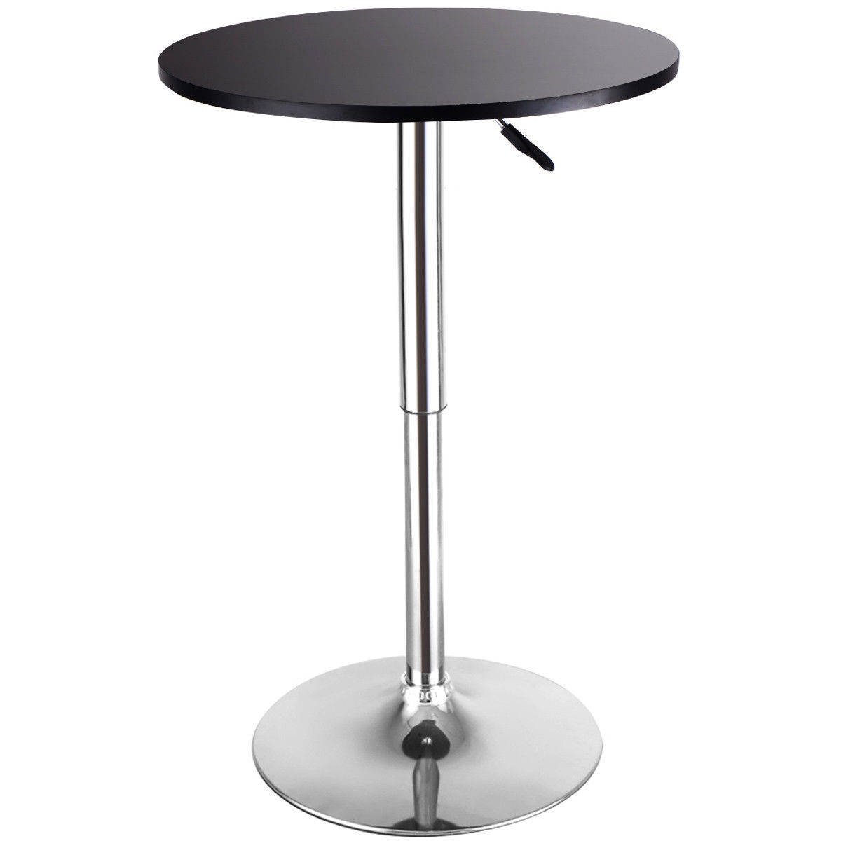 Superieur Costway Modern Round Bar Table Adjustable Bistro Pub Counter Wood Top  Swivel Indoor