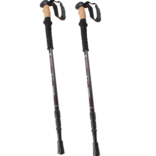 Click here to buy Trekking Hiking Poles Walking Sticks Anti Shock Telescoping Adjustable Trail 7075 Aluminum.