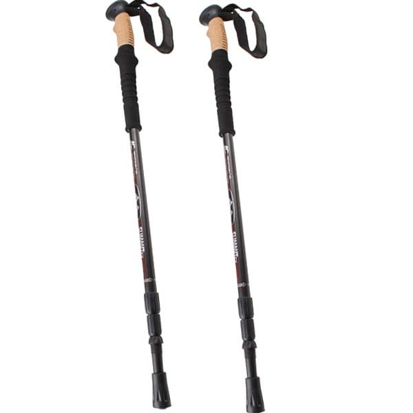 Trekking Hiking Poles Walking Sticks Anti Shock Telescoping Adjustable Trail 7075 Aluminum by