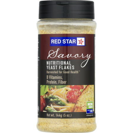 Sweet Yeast Breads - Red Star Savory Nutritional Yeast Flakes, 5 oz Shaker