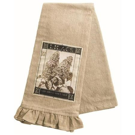 Heritage Lace VG-011 18 x 26 in. Vintage Garden Tea Towel, Natural