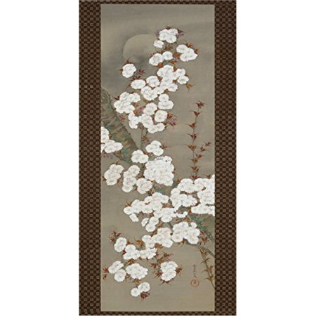 Hanging Scroll by Yoshida Shuran 39x19.7 Art Print Poster Famous Painting Japanese Floral White Flowers