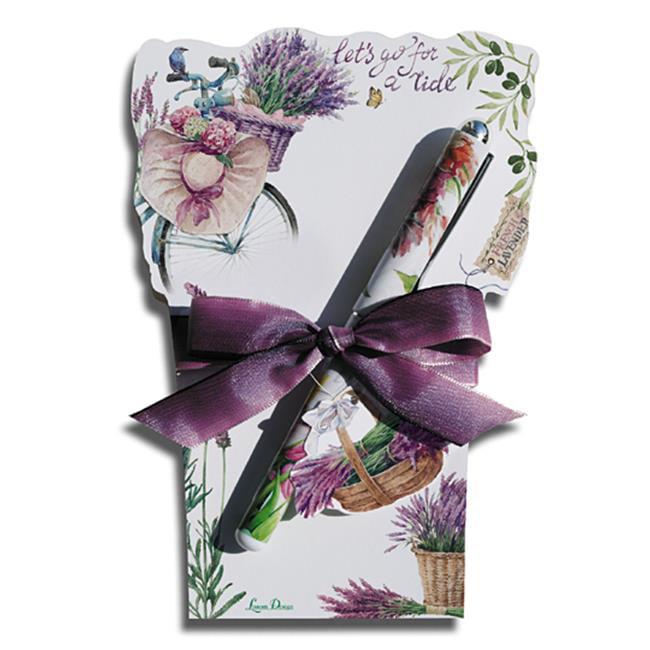 Lissom Design 22057 Diecut Notepad - Lavender Allure