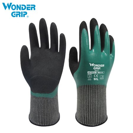 Wonder Grip Thermo Plus Coldproof Work Gloves Double Layer Latex Coated Oil Resistance Gardening Fishing Working