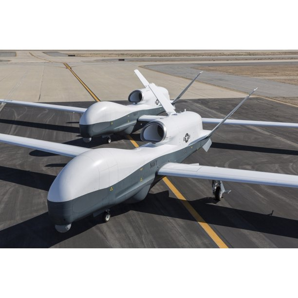 Two Mq-4C Triton Unmanned Aerial Vehicles on the Tarmac