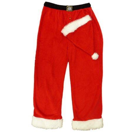 e2f6f471e5dea Joe Boxer - Joe Boxer Mens Red Fleece Santa Claus Sleep Pants Pajama Bottoms    Santa Hat - Walmart.com