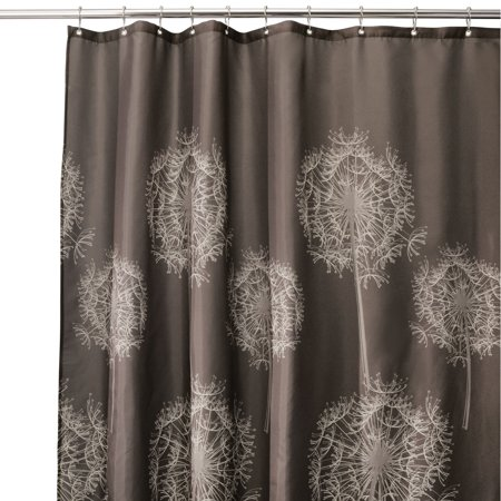 InterDesign Dandelion Fabric Shower Curtain, Standard 72