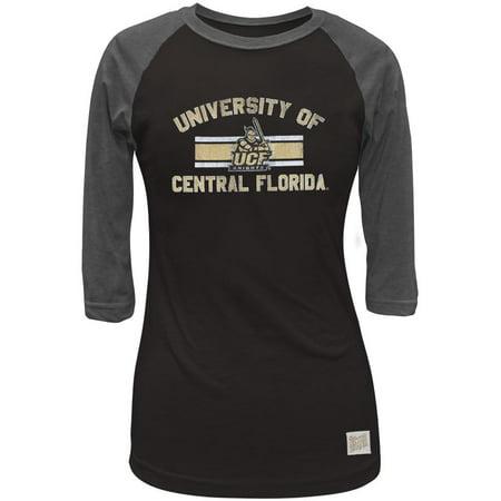 UCF Knights - Bar Logo Juniors 3/4 Sleeve Raglan - Ucf Halloween