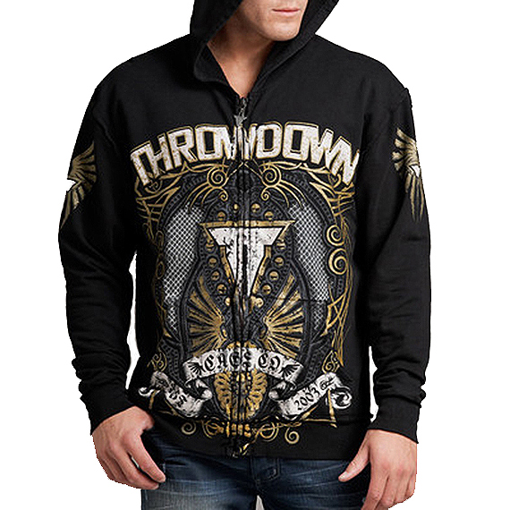 Throwdown by Affliction Lithium Zip Hoodie-Black-Small