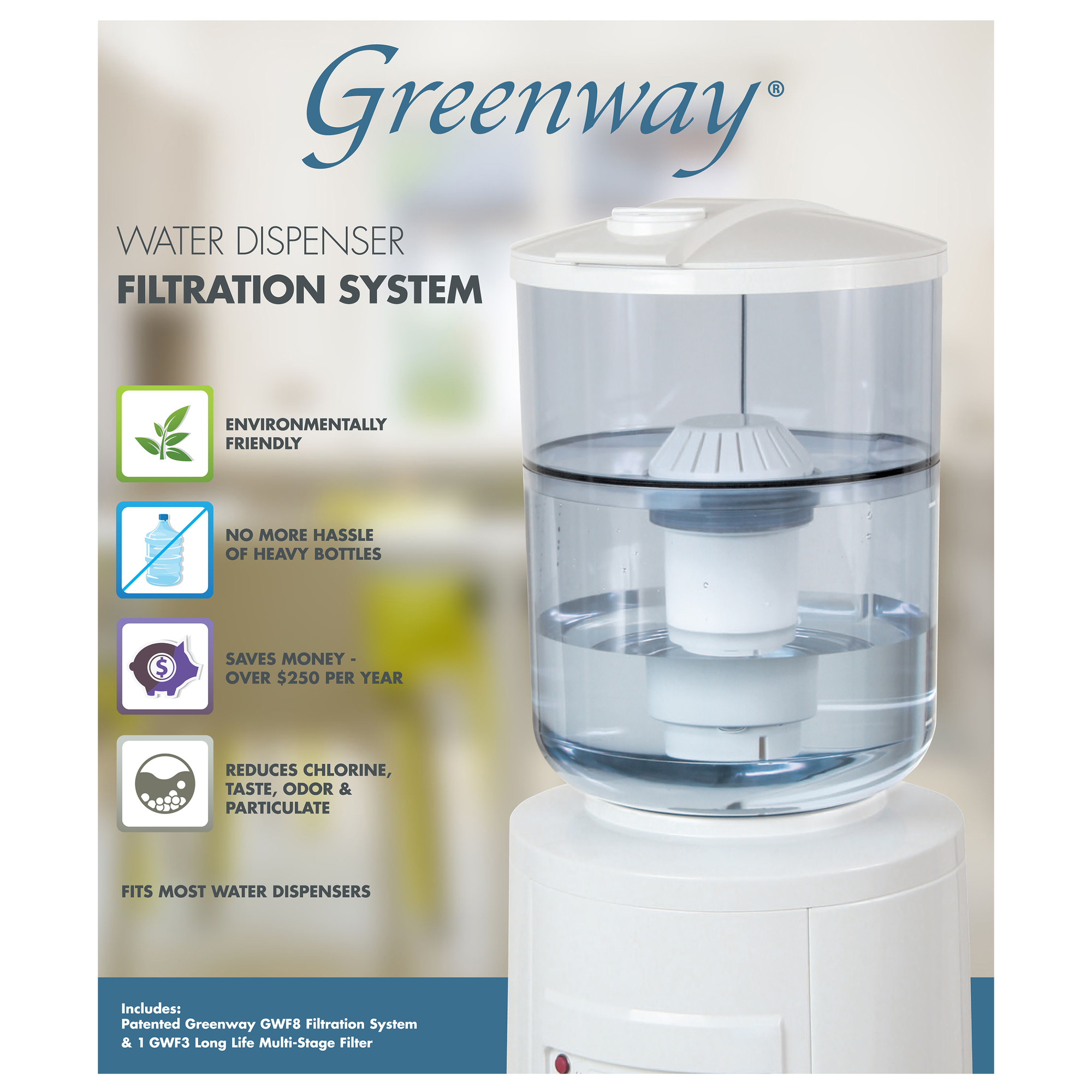 Greenway Water Cooler Filtration System - Walmart.com