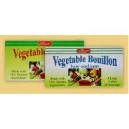 The Organic Gourmet Bouillon Cubes, Vegan Vegetable, 8 Ct