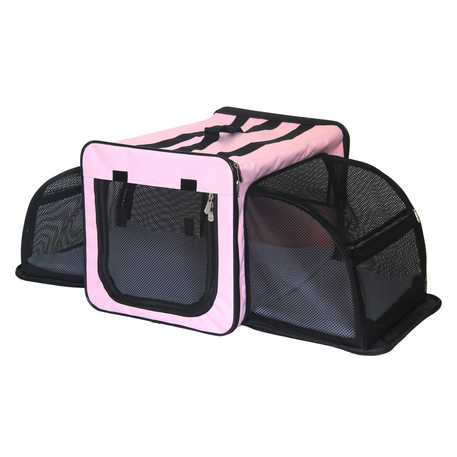 Pet Life Capacious Dual-Expandable Wire Dog Crate