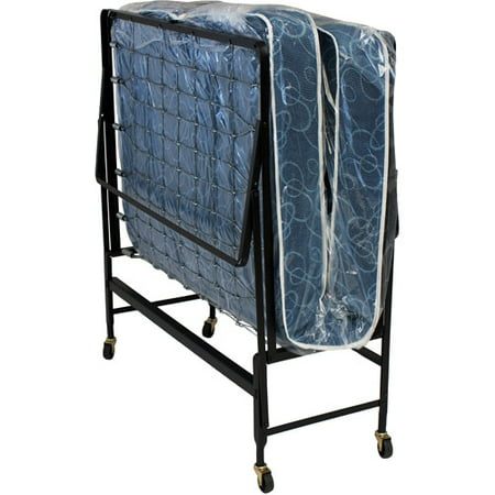 Hollywood Rollaway Bed Spring Mattress Foldable With Wheels Twin