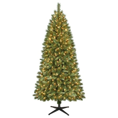 Holiday Time 7ft Pre-Lit Scottsdale Pine Artificial Christmas Tree with 450  Clear Lights - - Holiday Time 7ft Pre-Lit Scottsdale Pine Artificial Christmas Tree