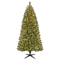 product image holiday time 7ft pre lit scottsdale pine artificial christmas tree with 450 clear lights