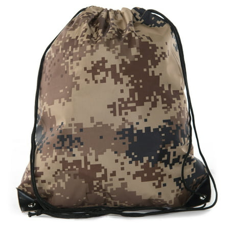 Camo Drawstring Tote Backpack | Wholesale Cinch Bags for Hunting, Hiking, Party Favors - By Mato & Hash - Party City Hiring