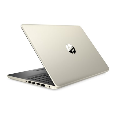 HP 14u0022 Laptop, AMD Ryzen 3 3200U, 4GB SDRAM, 128GB SSD, Pale Gold, 14-dk0024wm