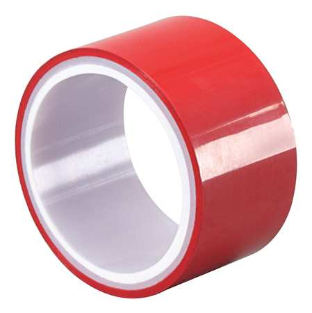 Metalized Film Tape,Red,3/8In x 5Yd TAPECASE 15D511