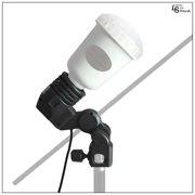 Single Head Light Bulb Socket Edison Base Light adapter with Umbrella Mount and Locking Screw from Loadstone Studio WMLS0192