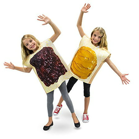 Boo! Inc. Peanut Butter & Jelly Childrens Halloween Dress Up Costumes 2-pack - Peanut Butter And Jelly Couple Costume