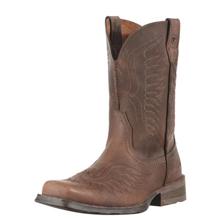 Ariat Rambler Phoenix Men  Square Toe Leather Brown Western Boot Ariat Boots And Shoes