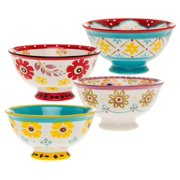Signature Housewares Flower Power 20 oz. Bowl (Set of 4)