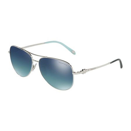 Tiffany 0TF3052B Full Rim Pilot Womens Sunglasses - Size 59 (Lt Blue Grad Blue Mir Sil Pl)