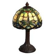 Poshe Dragonfly Tiffany Accent Lamp