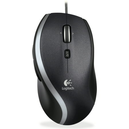 Logitech Corded Mouse M500 - Laser - Cable - Black, Gray - Retail - USB - 1000 dpi - Computer - Scroll Wheel - 7 Button(s) (Corded Mouse Logitech)