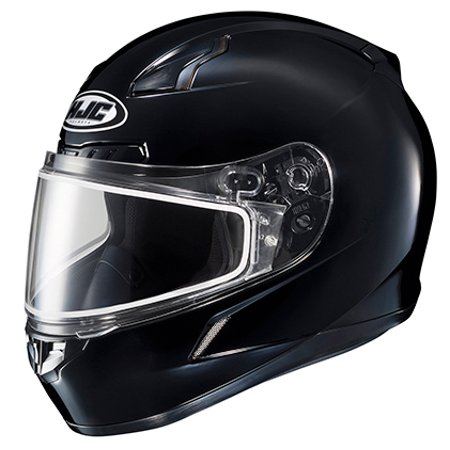 HJC CL-17 Snowmobile Helmet Solid Colors Black Sm  (Hjc Snowmobile Bibs)