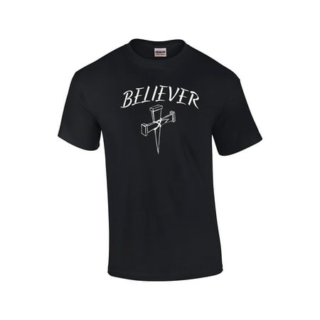 Christian T-Shirt Believer With Cross